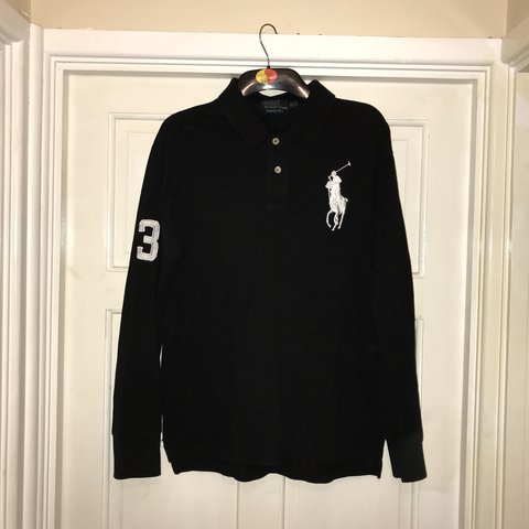 ee8143e07 Men s Ralph Lauren big pony long sleeve polo shirt. Size - Depop