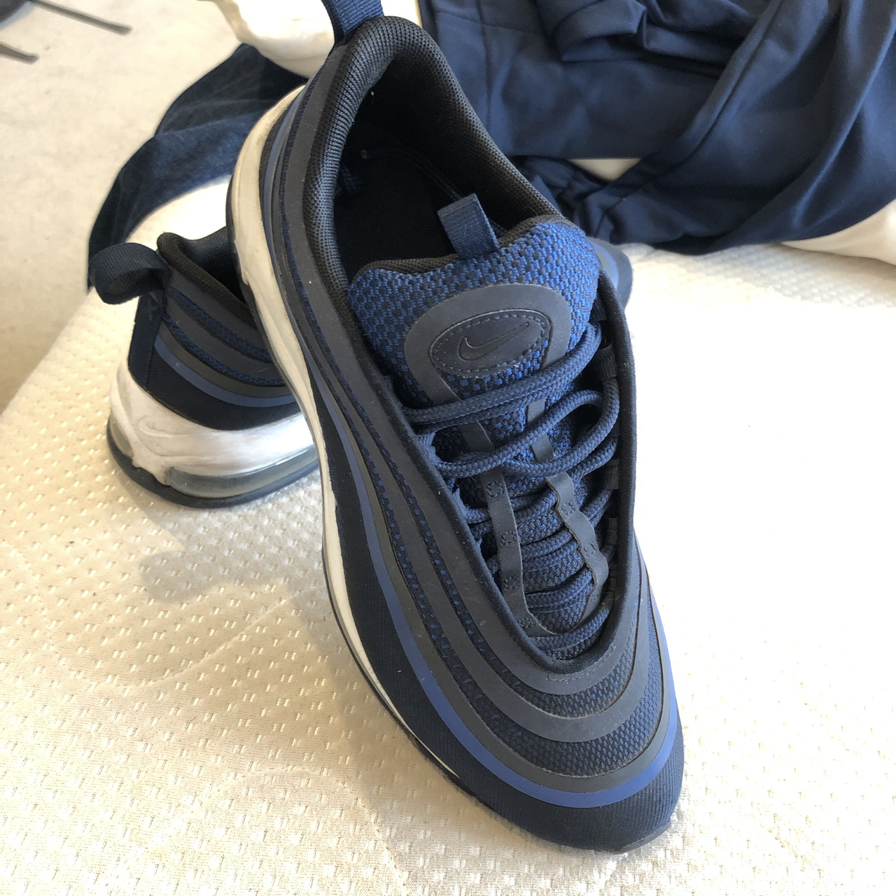 Navy blue nike air max 97's Size 7 Too