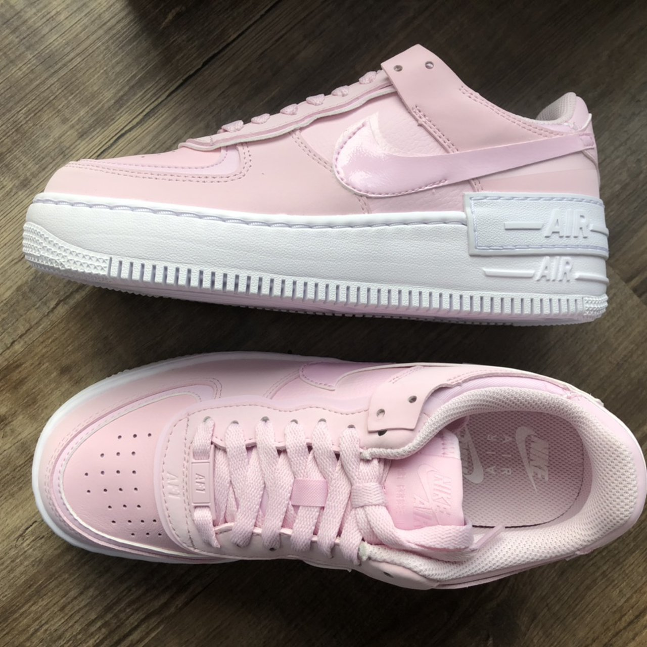 Nike Air Force 1 Shadow Pink Foam Pastel Pink With Depop