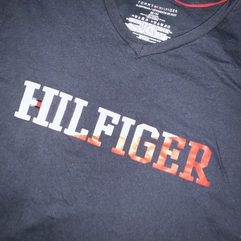 b0a0cf2e939 TOMMY HILFIGER ❤ 💙 Super cute V-Neck shirt. NEVER BEEN I - Depop