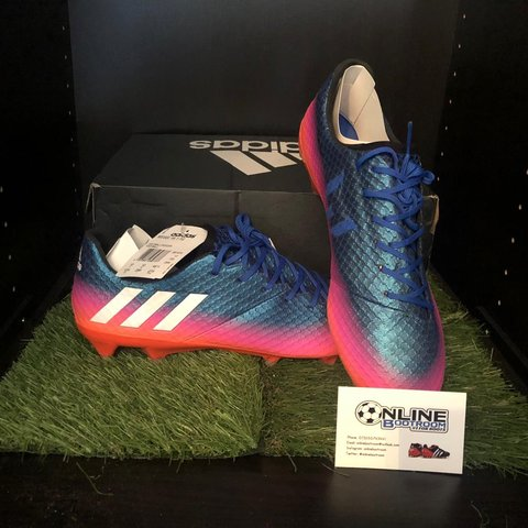 48fde4bf1df Adidas Messi 16.1 FG - Blue White Solar Orange Available in - Depop