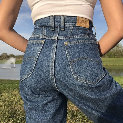 a8e0d9676b1c @latinflavor. 7 days ago. Katy, United States. Vintage dark wash Lee high  waisted jeans. Good condition