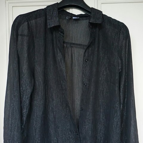 191150a49e1693 @izzyc17. 9 months ago. Harby, Leicestershire, United Kingdom. SHEER BLACK  SPARKLY SHIRT FROM H&M Semi see-through ...