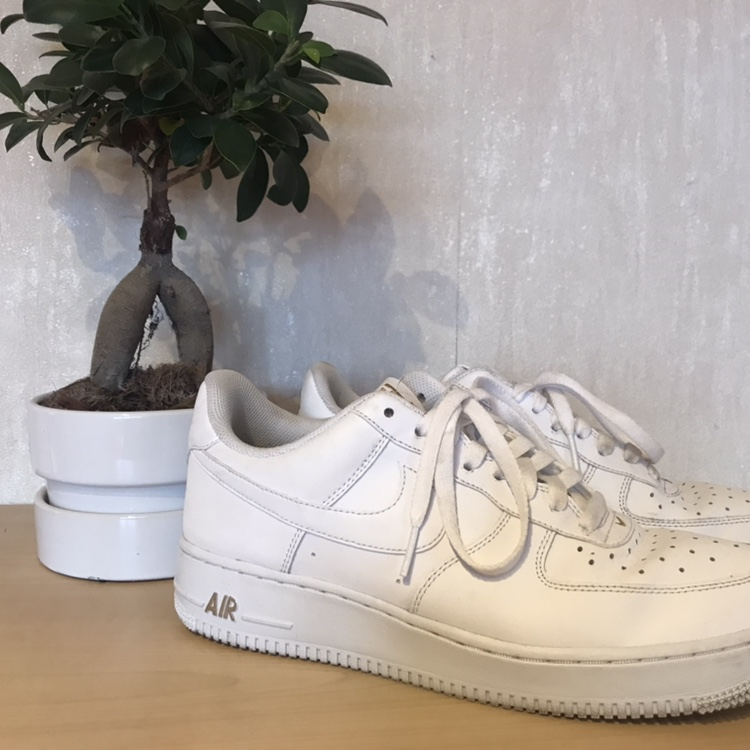 Nike Air Force one 82 white and gold