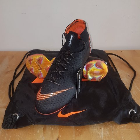 42128c91a Nike Mercurial Superfly VI Elite FG - Black total Orange - - Depop