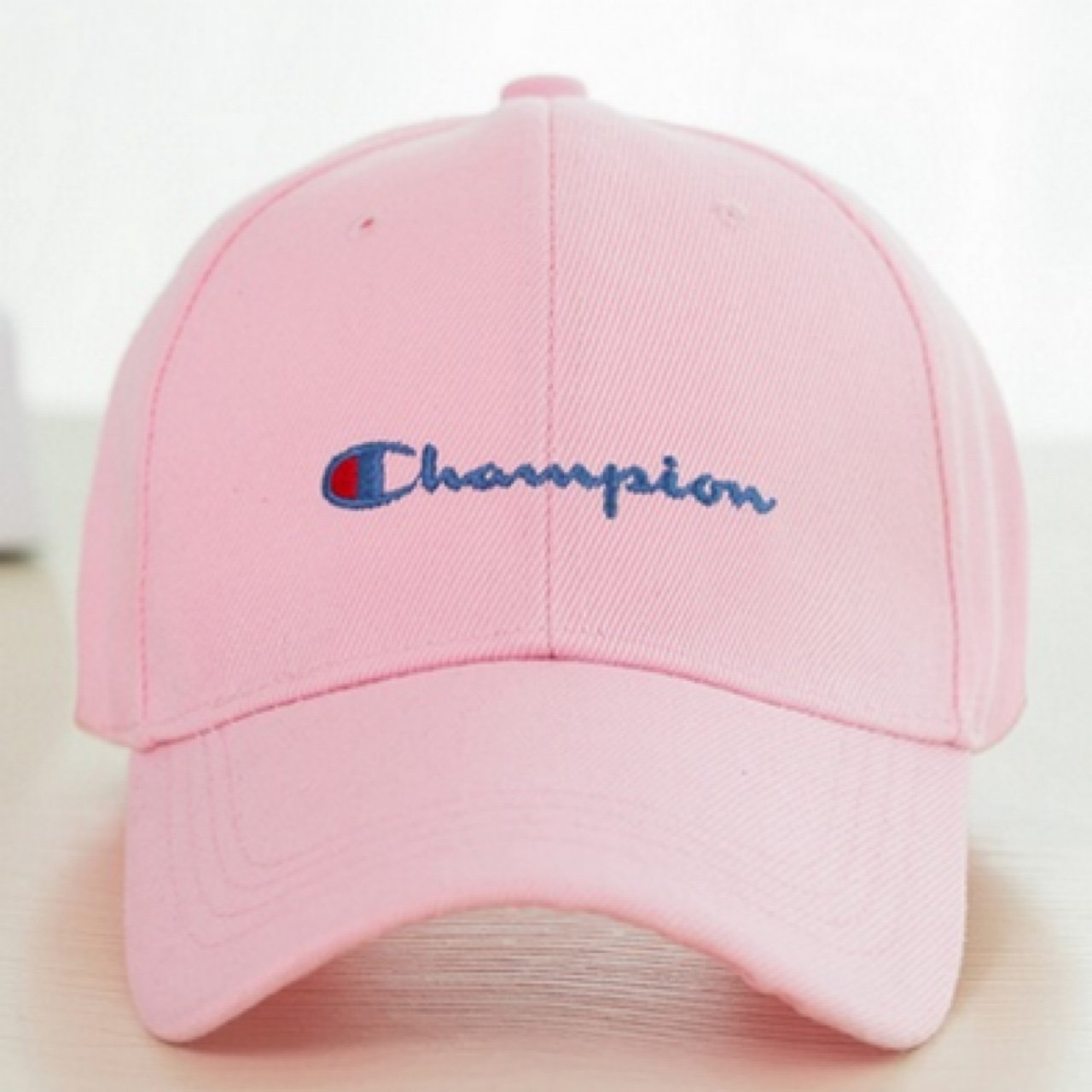 fa932b5bc05 LAST ONE!!! 🔥 PINK CHAMPION HAT - Unisex Champion caps in - Depop