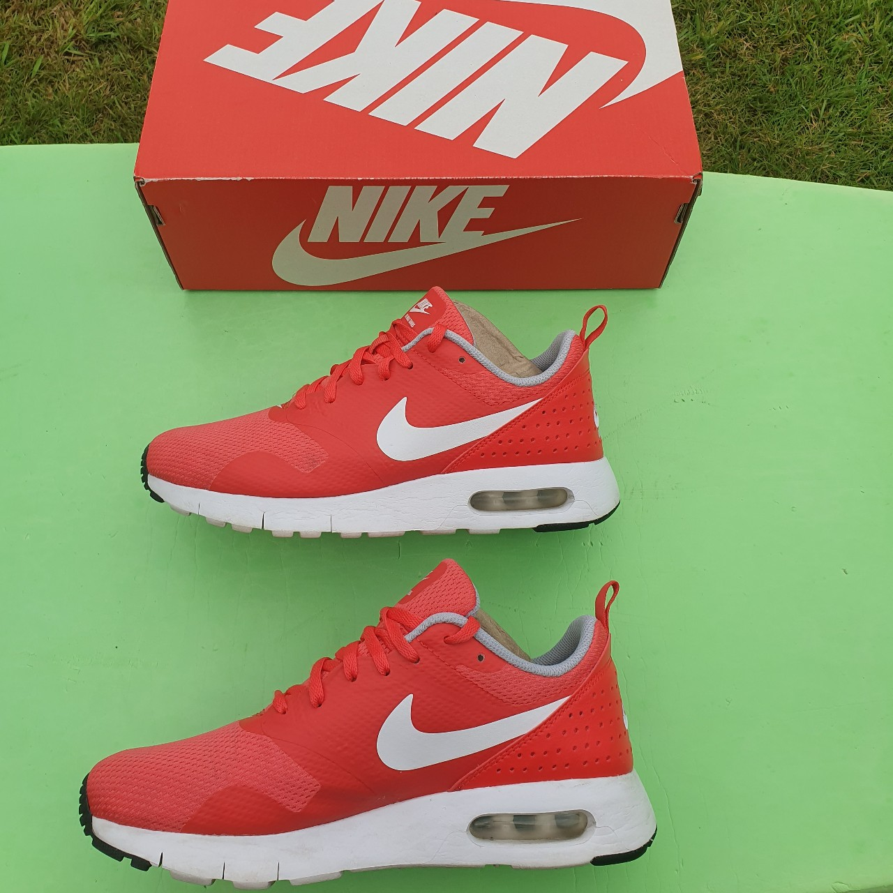 Womens Red Nike Air Max Tavas., Excellent condition,...