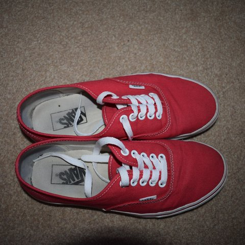 f37ef74a090cbc Authentic red vans