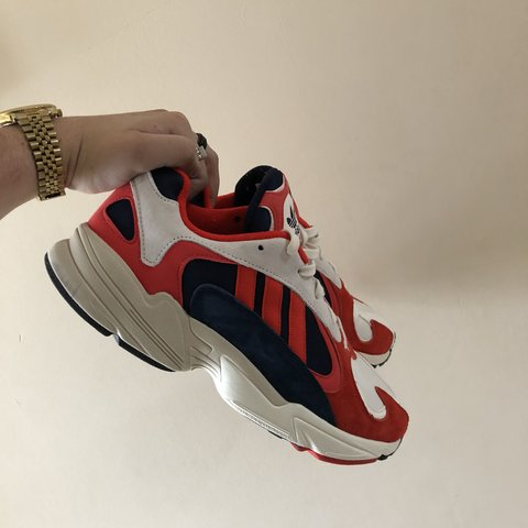 46217fa7d SELLING ADIDAS YUNG 1 RED WHITE BLUE SIZE UK 11 Worn once - Depop