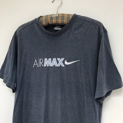 41ef6312 @retrorags. 4 months ago. London, United Kingdom. Early 00's Nike Air Max  Tee Embroidered Medium