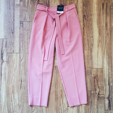 60e03aaab7546 Fab Topshop Petite blush pink trousers -Size UK4 -Brand new - Depop