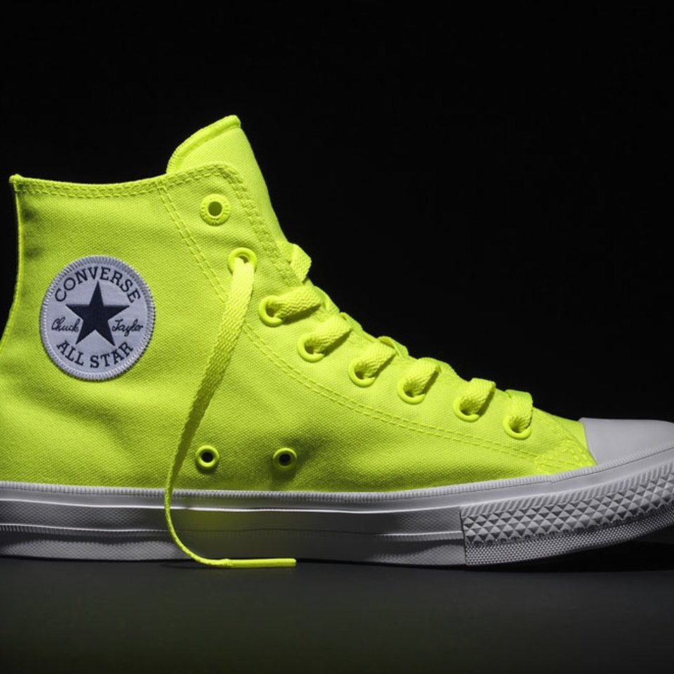 Neon Yellow High Tops Vintage Converse