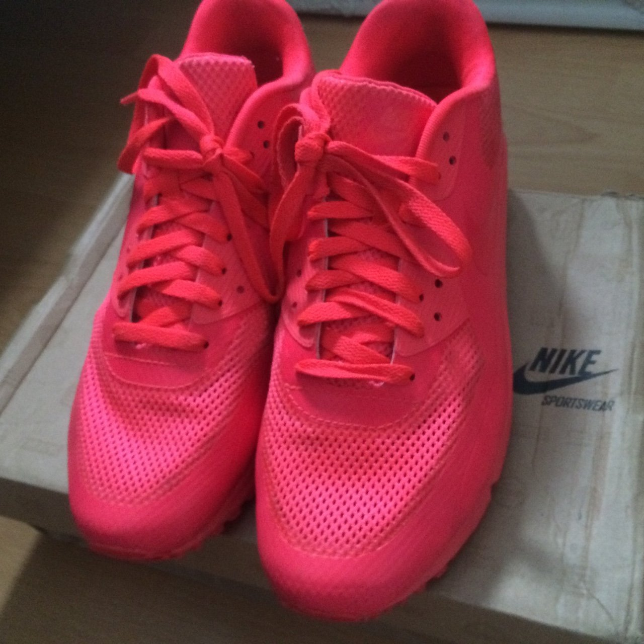 newest f5382 9eeac  bvsed. 4 years ago. Gillingham, Medway, UK. Nike Air Max 90 Hyperfuse  Solar Red .