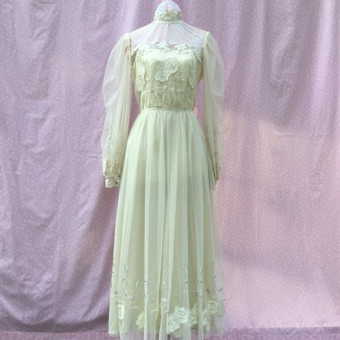 ab849cbe6 @shelliepatriquin. last month. Chelmsford, United States. VINTAGE prairie  look champagne tulle dress.