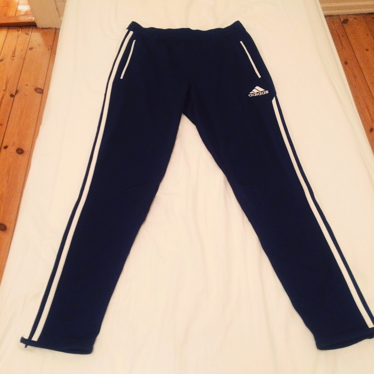 { . Selling my Adidas Condivo 12 Clima Cool Navy Depop