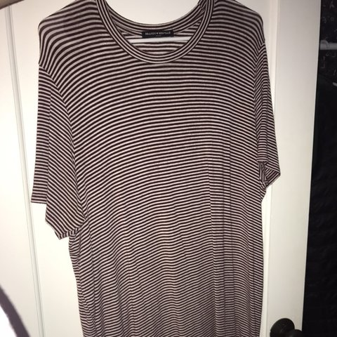 c244bba2ebe00 @emmavantassell. 7 months ago. Edmonds, United States. Brandy Melville  maroon and white striped T-shirt dress.