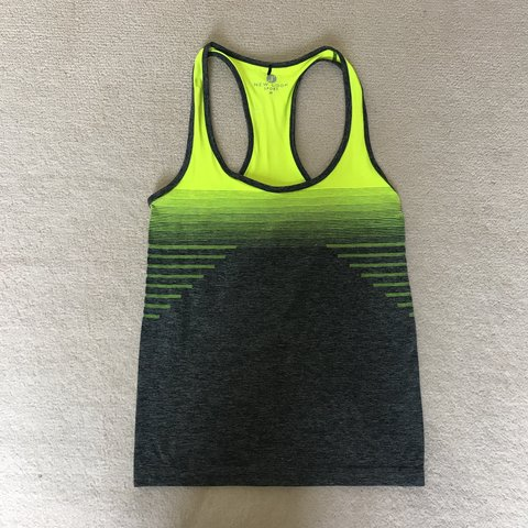 3c5c4289d6af4 Gym vest top in green and grey! Bought from New look Never - Depop