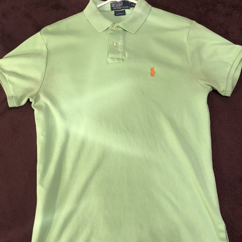 1048983f3 Lime green Polo Ralph Lauren custom fit shirt. Small in - Depop