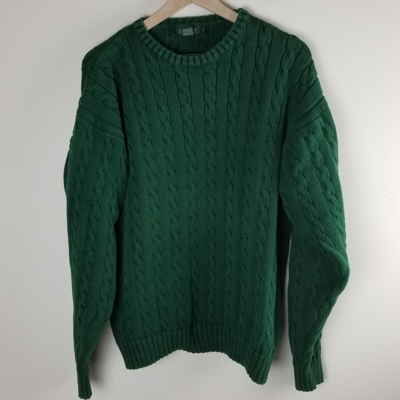 Forest green knit sweater