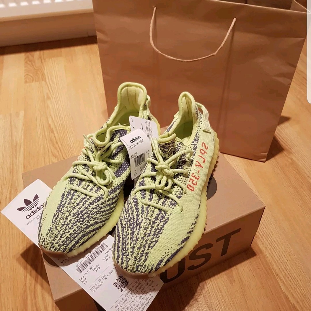 Adidas yeezy boost 350 v2 frozen yellow size Depop