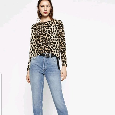 efbe9aa2575f4 Zara leopard print top size small. Excellent condition worn - Depop