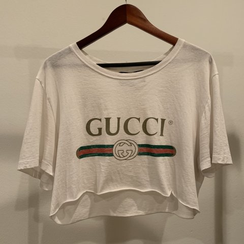 cbd3db0ca @jeffperez. 6 months ago. Los Angeles, United States. ⚠ on hold for  @anthonypxx ⚠ Gucci Logo Crop Top Authentic Gucci Tee