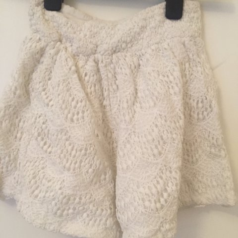 White Crochet Shorts Xs Depop