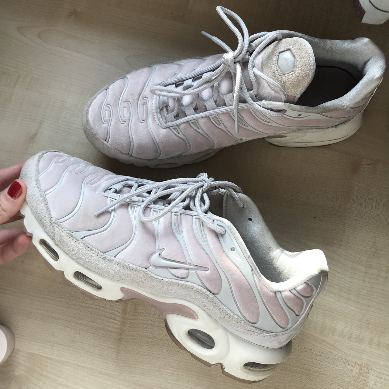 low priced c0274 7f5ca REDUCED TO £70 women's pink velvet Nike TN tuned 1... - Depop