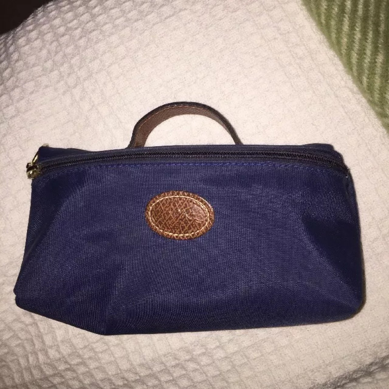 REAL LONGCHAMP LE PLIAGE MAKE UP BAG IN NAVY. USED BUT IN - - Depop 06ba9ab9e08e3