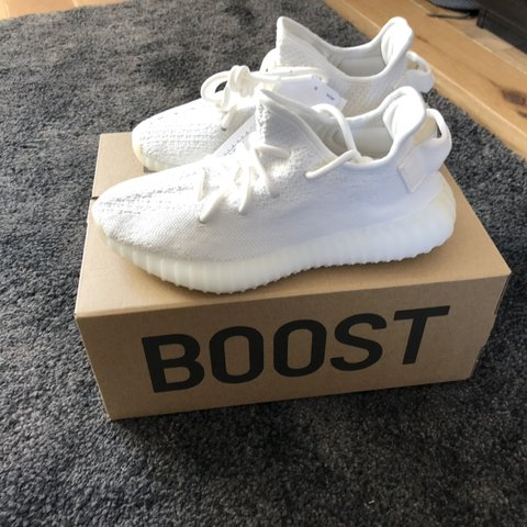 a40717987 Adidas YEEZY BOOST 350 V2 Triple White. UK SIZE 3.5 BRAND - Depop