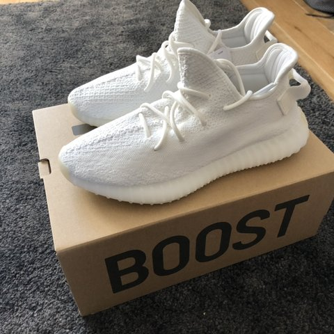 692e68834 adidas YEEZY BOOST 350 V2 Triple White. UK SIZE 9 Any let - Depop