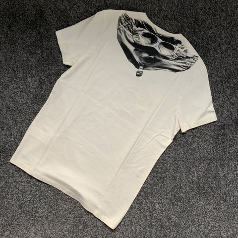 02b760027efd Off White (Colour) CP Company Hooded Back Print Goggle T L - Depop