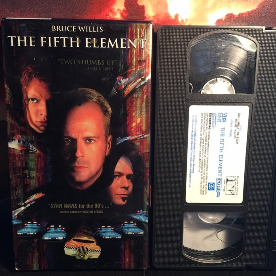 The Fifth Element 1997 Vhs Holographic Depop