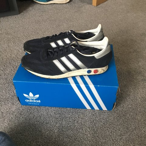 new product f3799 06320  olliegallagher. 2 months ago. Coventry, United Kingdom. Adidas LA Trainer  OG. Navy ...