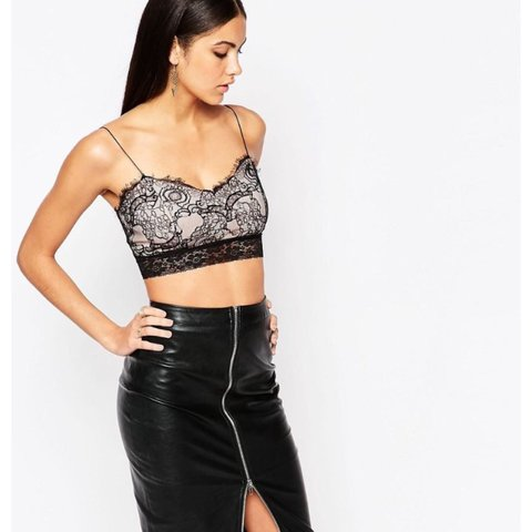 468c88400df39a Ariana Grande for Lipsy lace bralet from Asos. Worn a couple - Depop