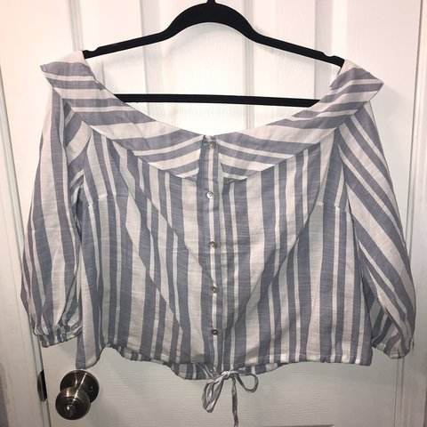 311284f882 🔶BRAND NEW off the shoulder striped top !!! 🔶SIZE   XL 🔶 - Depop