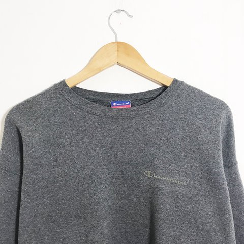 eb44113a506 Retro 90 s champion sweater in grey with small logo and on