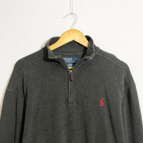 6e9d568b7fb3 Vintage polo Ralph Lauren quarter zip sweatshirt in grey