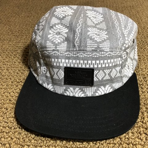 Vans Off the Wall 5-panel hat. Grey and white Aztec with - Depop dc5e6e9e7dec