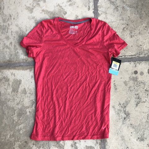 cdba1510c @jaynal7. 6 months ago. Carpinteria, United States. Nike Red Dri-Fit V-neck  shirt NEVER WORN!!