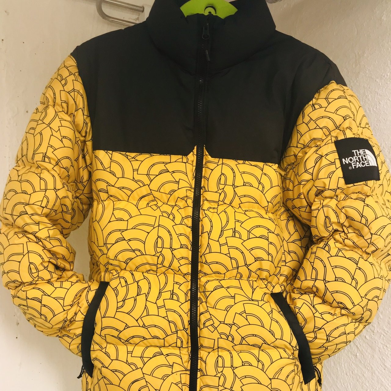 The North Face black label 1992 nuptse jacket in rare yellow - Depop 1f8c13ce4