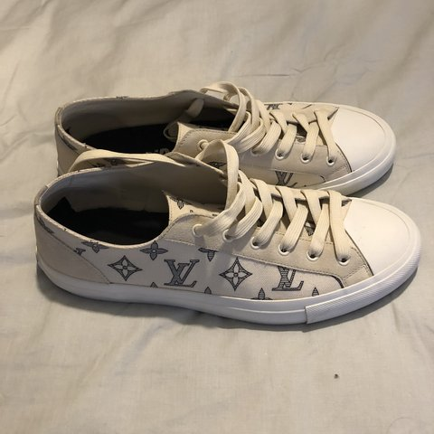 f243aeb51bfc Louis Vuitton men s tattoo sneakers Converse style these - Depop