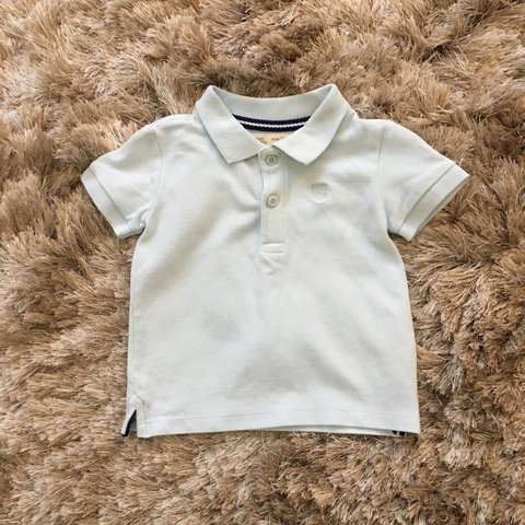 8dba35bde Zara Baby boy pale mint polo top Worn but fab condition for - Depop
