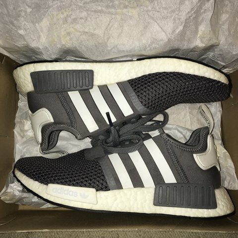 ffe8398a4 Adidas NMD R1 Grey and white JD exclusive. Size 7 unisex. a - Depop