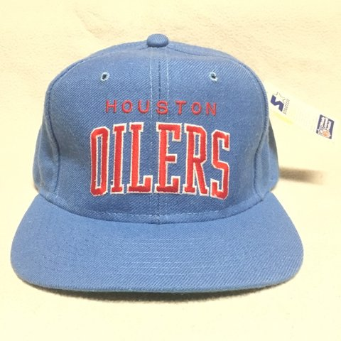 Vintage Houston Oilers Starter Snapback Hat. New Old Dead - Depop 712b5b4361c8