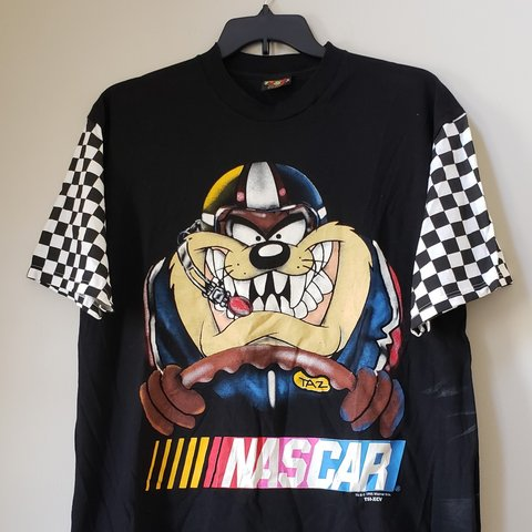 351ff0f7975ee6 1995 Taz NASCAR Shirt Good condition 7 10 (light stain on of - Depop