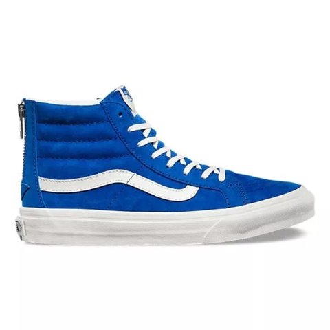 7d38e44b16ca1d Brand new with tags Vans SK8-HI shoes in royal blue. Size 4 - Depop