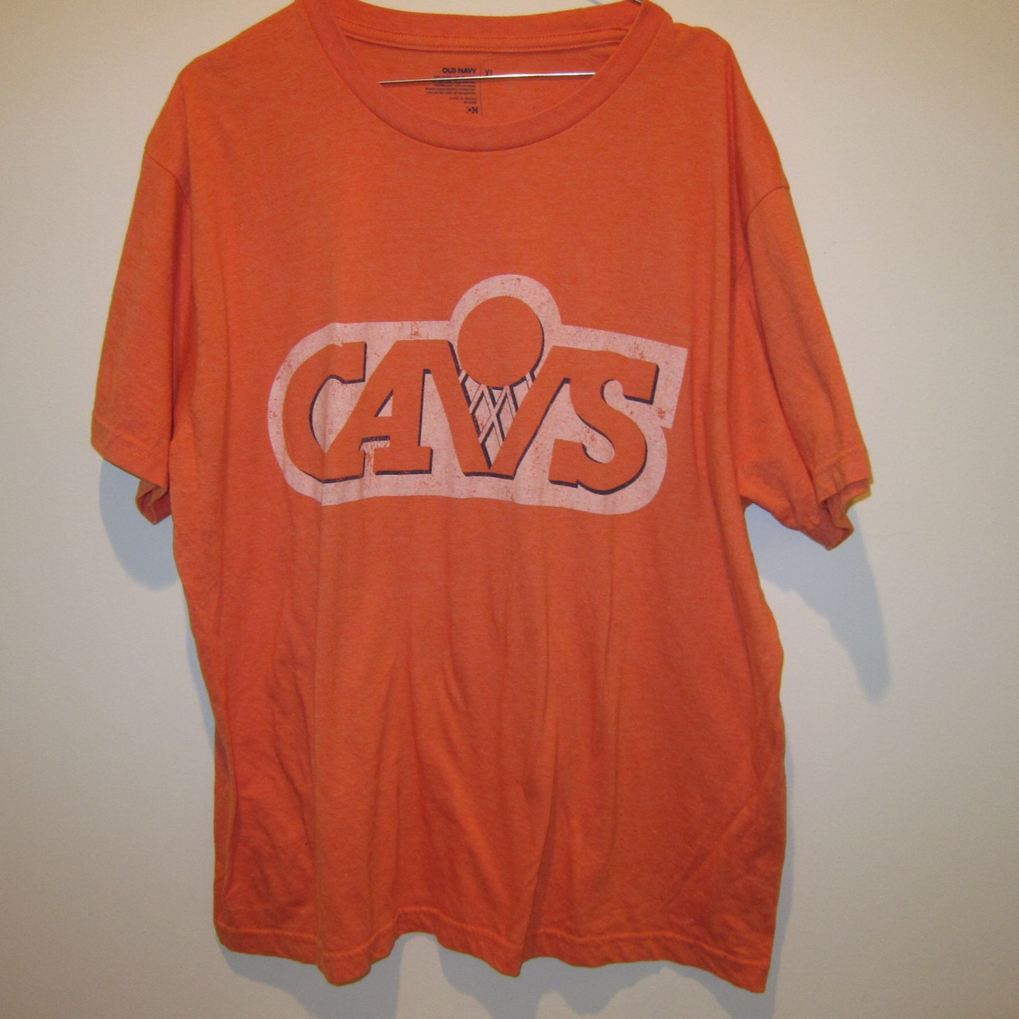 save off c10fa 3f163 Retro Cleveland Cavaliers T Shirt Mens Size XL... - Depop