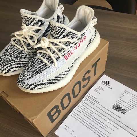 4f0dae3d1bf83 Adidas Yeezy Zebra V2 UK 9. BIN 600 Open to offers. Feel to - Depop