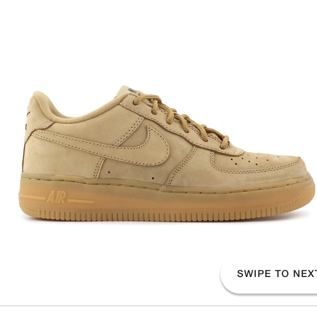 check-out 08706 cf604 Camel Nike Air Force 1- size 5.5- hardly been worn,... - Depop